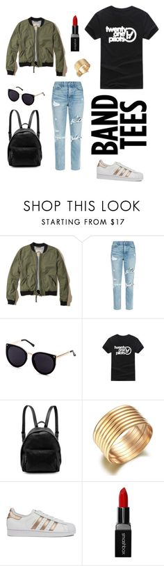 """""""Twenty One Pilots🤘🏻"""" by kmosburn3 ❤ liked on Polyvore featuring Hollister Co., GRLFRND, WithChic, STELLA McCARTNEY, adidas and Smashbox"""
