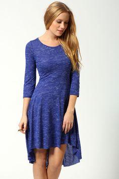 Faith 3/4 Sleeve Jersey Marl Mixi Dress