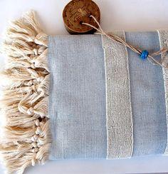 Handwoven BATH Beach TOWELOrganicNatural Cotton Eco by loovee, $29.90