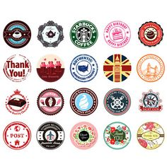 76 pcs/ 2 boxes vintage thank you mini sticker set decoration decal diy album scrapbooking sealing sticker kawaii gift