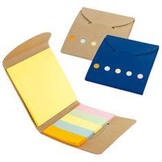 STICKY SET ECO REF:AO-205   Estuche de Cartón Reciclado.  Libreta con 5 Stickies de Colores.  Taco de Papel Adhesivo.  Producto Ecológico.  Tipo de Producto: IMPORTADO.  Medidas: 8 cm largo x 9 cm ancho.  Área de Marca: 5.5 cm.  Tipo de Marca: Tampografía.  Color Disponible: Cartón, Blanco y Azul Oscuro.