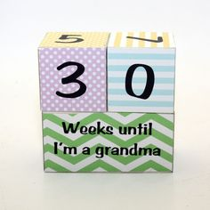 Pregnancy Countdown Blocks Weeks Until Im A Grandma door KotiBeth Pregnancy announcement Pregnancy Countdown, Newborn Needs, Marriage And Family, Expecting Baby, Silhouette Cameo Projects, Everything Baby, Baby Scrapbook, Baby Kids, Baby Baby