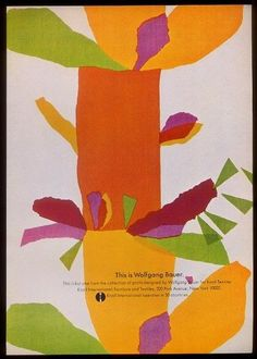 1969 Wolfgang Bauer design Knoll Textiles vintage print ad