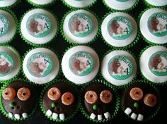 Gruffalo style cupcakes are great little little party bag fillers