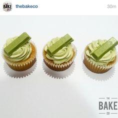 """@thebakeco  incredible matcha cupcakes with matcha Kit Kats on top www.zengreentea.com.au #matcha #superfood"