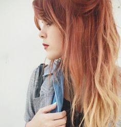 Fox OMBRE Dyed Hair // FULL HEAD Extensions // Clip-In // Human Hair