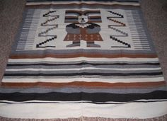 Vintage Mexican Wool Blanket - FREE SHIPPING! by Luv2Junk on Etsy
