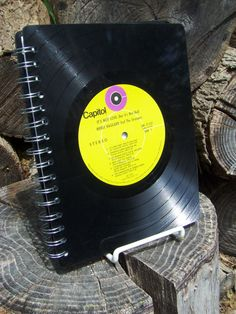 merle haggard recycled vinyl record notebook--I want this!!!