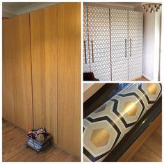 forrar con papel pintado las puertas del armario pintando las puertas puertas armarios y armario. Black Bedroom Furniture Sets. Home Design Ideas