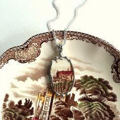 Broken china jewelry Recycled china by dishfunctionldesigns