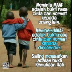 Saling Memaafkan Words Quotes, Me Quotes, Quotes Indonesia, Morning Quotes, Islamic Quotes, Slogan, Mindfulness, Doa, Memes
