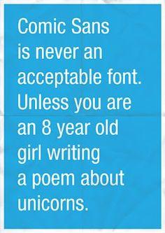 Who even uses Comic Sans?