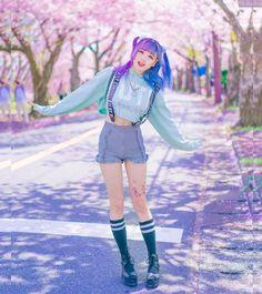 Ideas For Hair Pink Asian Rose - - Ideas For Hair Pink Asian Rose Ideas For Hair Pink Asian Rose street wear kawaii fashion grunge fashion fashion outfits clueless fashion. Style Kawaii, Looks Kawaii, Mode Kawaii, Kawaii Girl, Outfits Kawaii, Kawaii Clothes, Grunge Outfits, Cool Outfits, Tokyo Street Fashion