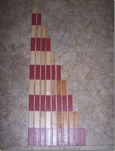 A fantastic tutorial for beautiful, quality hand made Number Rods that you can make at home.