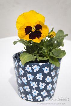 Jardineras decoradas con telas #manualidades #DIY