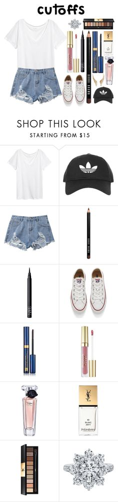 """#cutoffs"" by princesskimdoan ❤ liked on Polyvore featuring Topshop, Bobbi Brown Cosmetics, NARS Cosmetics, Converse, Estée Lauder, Stila, Lancôme, Yves Saint Laurent, Harry Winston and Palm Beach Jewelry"