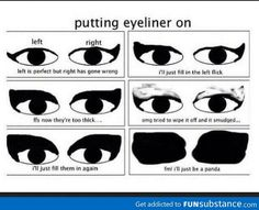 is is me every morning! Of course i don't mind looking like a panda!