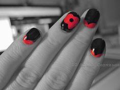 Poppy nails forremembranceSunday