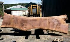 American Black Walnut Solid Slab, (16 feet long)