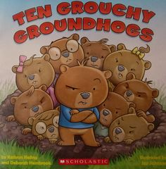 the grouchy groundhogs... perfect for our groundhog day party!