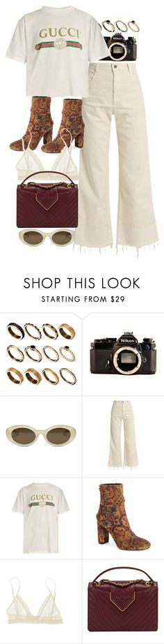 """""""Untitled #10378"""" by nikka-phillips ❤ liked on Polyvore featuring ASOS, Nikon, Elizabeth and James, Rachel Comey, Gucci, Yves Saint Laurent, Eberjey and Chanel"""