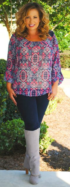 Perfectly Priscilla Boutique - Girl Friday Top, $35.00 (http://www.perfectlypriscilla.com/girl-friday-top/)