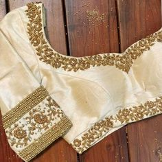 Custom fit pure raw silk blouse with zardosi embroidery etsy. Wedding Saree Blouse Designs, Saree Blouse Neck Designs, Simple Blouse Designs, Stylish Blouse Design, Blouse Designs Embroidery, Hand Work Blouse Design, Sari Blouse, Zardosi Embroidery, Etsy Embroidery