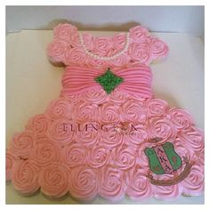 For all the AKAs in my life,  let me find the crest overlay and I'll get you all RIGHT!....sf  AKA cupcake cake