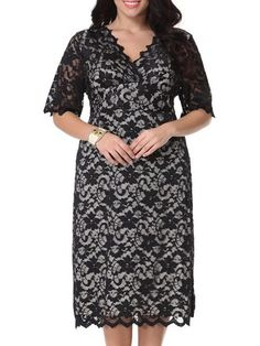 Lace Falbala Excellent V Neck Plus-size-midi-dress #ClothingOnline #PlusSizeWomensClothing #CheapClothing #FashionClothing #womenswear #sexydress #womensdress #womenfashioncasual #womensfashionforwork #fashion #womensfashionwinter