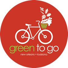 Green To Go Logo This lady rides her bike in New Orleans selling salads for $8  She starts with 100 salads at 11am to 1pm, 3 days a week and she sells out. You do the math. What a great idea. She gets her excerise and earns money at the same time.