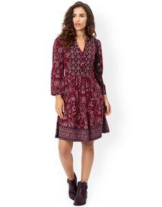 Tessa Print Dress   Purple   Monsoon