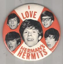 I Love Herman's Hermits - band button. Love the random photos of each band member. Via Busy Beaver Button Museum Peter Noone, Herman's Hermits, Busy Beaver, 60s Music, Back In My Day, British Invasion, I Remember When, Thats The Way, My Memory