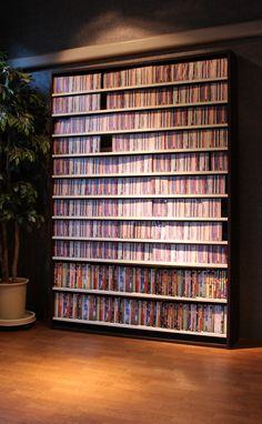 幅139cm インデックスプレート20枚付き CDラック 大容量 おしゃれ デザイン CD 収納 大量 プロ 業務用…