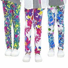 fca6517606b138 slaixiu 3-Pack Printing Flower Girl Leggings Kids Classic Pants 4-13Y  #slaixiu