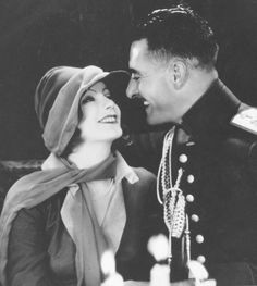 Greta Garbo and John Gilbert, in Love, 1927.