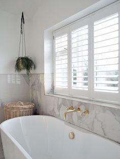 White DIY Window Shutters Bathroom Source by cpipessmith window Bathroom Window Coverings, Small Bathroom Window, Bathroom Layout, Bathroom Interior Design, Modern Bathroom, Budget Bathroom, Bathroom Ideas, Blinds For Bathroom Windows, Bath Window