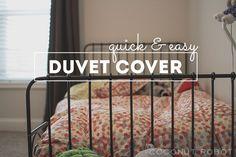 beautiful duvet cover tutorial from coconutrobot.com