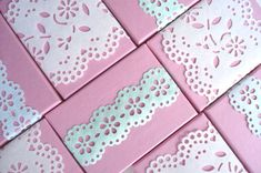 Doily Box Covers - Martha Stewart Punches. SO many gorgeous ideas on this blog!
