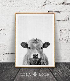 Cow Print, Farm Animal Wall Art, Black and White Cow, Animal Print, Printable Art, Nursery Farm Animal Print, Black and White Nursery Decor by LILAxLOLA on Etsy https://www.etsy.com/listing/255189411/cow-print-farm-animal-wall-art-black-and