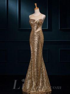Illusion Neckline Beading Mermaid Evening Dress