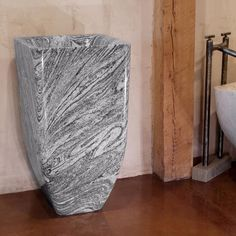 One Of A Kind Pedestal Sink, Cumulo Granite