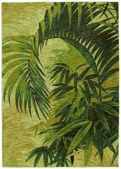 Shaw Tommy Bahama Home Nylon Collection Polynesian Palms Beige Rug - While not actually TIKI it would be great for a tiki bar type room!