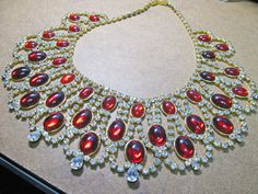 Vintage Royal Bib Necklace by CaliforniaWildPoppy on Etsy