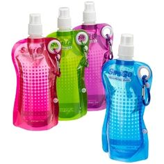 Great for people on the go--these bottles roll up and fit your bag. #MadeinUSA