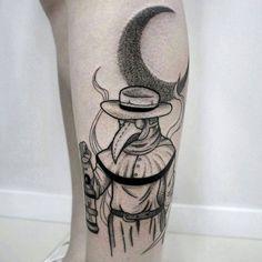 Plague Doctor Tattoo by anaschmitt3