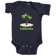 California Palm Tree - Infant Onesie/Bodysuit
