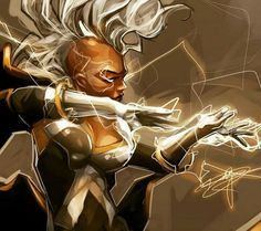 Amazing X-force Storm by ⚡️⚡️ Storm Xmen, Storm Marvel, Marvel X, Comic Book Characters, Comic Books Art, Black Panther Storm, Xmen Apocalypse, Ororo Munroe, Psylocke
