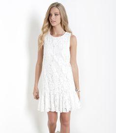 Slate and Stone - Lace Ruffle Hem Dress