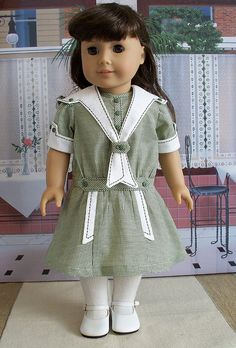 1916 middy with removable collar by Keepersdollyduds, via Flickr