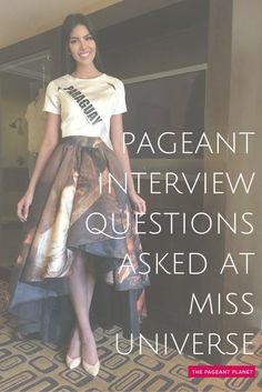 sample county fair queen interview questions
